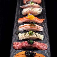 Omakase Sushi posted by Chef Leesansushi via the app - the culinary world in your pocket Sushi Co, Sashimi Sushi, Sushi Japan, Sushi Recipes, Asian Recipes, Japanese Food Sushi, Antipasto, Food Presentation, Food Plating