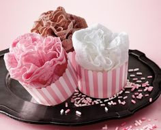 Neapolitan colour scheme Panty Cupcake Favors for Bachlorette Party Bridal Lingerie Shower, Lingerie Party, Wedding Lingerie, Bridal Shower Gifts, Bridal Showers, Panty Party, Bridal Gifts, Victoria Secrets, Cupcake Favors