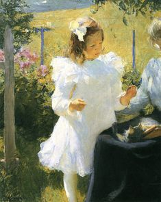 """""""Sunlight,"""" Frank Benson, 1902, oil on canvas, 44 x 36"""", Private collection."""