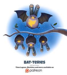 Day 1377. Bat-teries by Cryptid-Creations.deviantart.com on @DeviantArt
