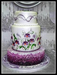 Cake with pansies - Cake by House of Cakes Dubai | CakesDecor.com