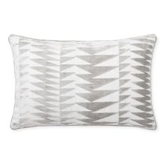 The mesmerizing motif of our luxe velvet pillow cover is created from silky-soft threads woven on a jacquard loom, resulting in a piece of enduring quality. Finished with piped edging and a hidden zipper, it adds an eye-catching accent to the livi… Down Pillows, Bed Pillows, Pillow Inserts, Pillow Covers, Cool Color Palette, Jacquard Loom, Ikat Pattern, Ikat Print, Cover Gray