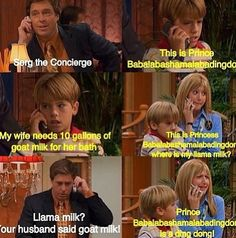 The Suite Life of Zack and Cody my favorite show on Disney channel Tv Quotes, Movie Quotes, Funny Quotes, Funny Memes, Zack Et Cody, Zack And Cody Funny, Funny Shit, Funny Stuff, Fun Funny