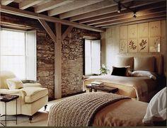 Jeffrey Bilhuber Guest Bedrooms, Guest Room, Cottage Bedrooms, Rustic Bedrooms, Interior Architecture, Interior Design, Interior Ideas, Estilo Country, Cosy Room