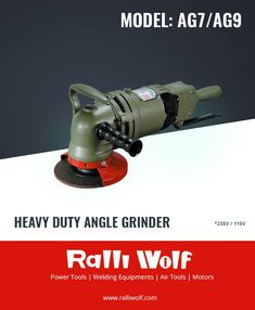 Ralliwolf AG7/AG9 Angle Grinders are conventionally known for their robust constructional features and proven performance in heavy engineering & fabrication industries.