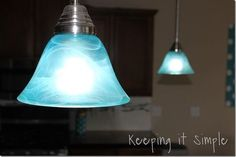 Turquoise pendant lights how to dye light shades baos use modge podge and food coloring or rit dye to stain the builder aloadofball Gallery
