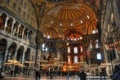 The Hagia Sophia in Istanbul, Turkey was a former church and mosque. It is now one of the most visited museums in the country.