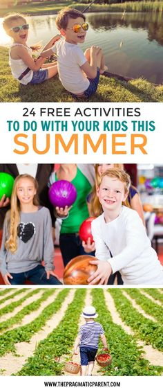 24 Free Activities to Do with Your Kids this Summer. Free and fun summer activities offered by companies, parks and amusements to do with your kids and and have summer fun with the entire family. via @https://www.pinterest.com/PragmaticParent/