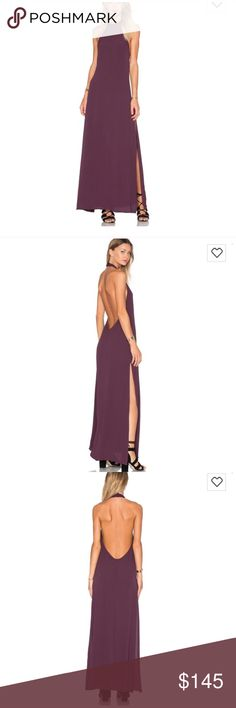 Flynn and Skye Tara Mulberry Maxi Dress New in bag gorgeous open back dress great for a summer dress and date night dress Free People Dresses Maxi
