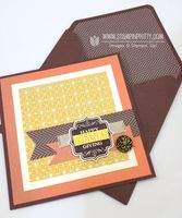 Envelope punch board liner tutorial from Mary Fish!