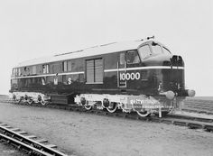 Three photographs of London, Midland & Scottish Railway diesel- electric locomotive no. 10000. 3/4 front view Associated with London, Midland and Scottish Railway