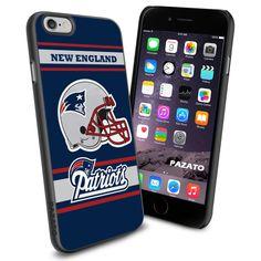 iPhone 6 Print Case Cover New England Patriots Logo Protector Rubber #PAZATO