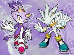 Silver the hedgehog and Blaze the cat !!! Silvase........;)
