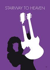 Musicians Art - No011 MY Led zeppelin Minimal Music poster by Chungkong Art