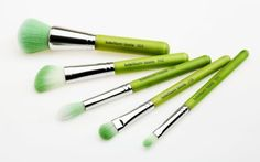 Bdellium Tools Professional Makeup Brush Green Bambu Series Mineral 5pc. Brush Set by Bdellium tools. $35.53. All recyclable aluminum ferrules. 100% cruelty free. The ultimate package for full mineral makeup application. Professional eco-friendly makeup brush. All sustainable bamboo handles and vegan soft synthetic bristles. Package includes #959B Powder Blending, #942B Slanted Contour, #934B Precision Concealer, #787B Duet Fiber Large Tapered Blending, and #778B Large Shadow b...