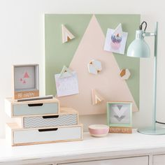 Mix-and-match furniture & decor Pele Mele Photo, Deco Pastel, Space Crafts, Craft Space, Office Accessories, Wooden Boxes, Home Organization, Floating Nightstand, Decoration