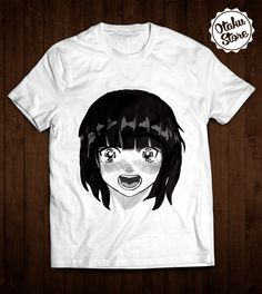 """Anime t-shirt """"Japanese Girl"""". Anime DTG print."""