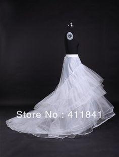 Grátis frete bom preço e qualidade anágua casamento trem grande crinolina 3 camadas de fios duros 2 aros anéis underskirt