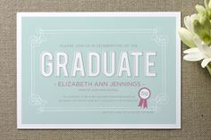 grad invite from minted