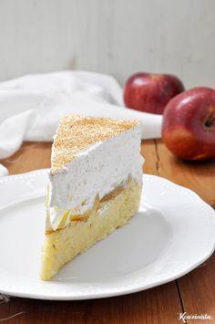 Δροσερή τούρτα με μήλα ή ροδάκινα / Apple pudding cake Greek Desserts, Party Desserts, Greek Recipes, Dessert Recipes, Pudding Cake, Cake Pops, Vanilla Cake, Easy Crafts, Food To Make
