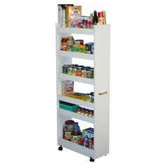 Small Space Solution Narrow Rolling Pantry Shelves Pantry