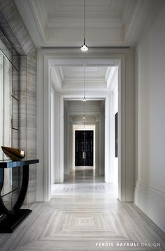 """Dubbed The Embassy, Drake's Manor House takes cues from """"modern art deco"""", according to Ferris Rafauli, the designer behind this private home. Classic Interior, Luxury Interior Design, Interior Exterior, Best Interior, Interior Architecture, Classic Architecture, Contemporary Interior, Interior Decorating, Decorating Ideas"""