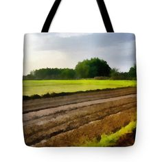 Field Tote Bag featuring the photograph Muddy Field. by Nhi Ho Thi Xuan