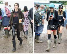 Cum au infruntat vedetele noroiul de la festivalul Glastonbury