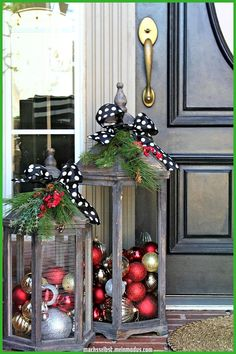 natal 2017 lanternas rústicas para o exterior # Natal . weihnachten deko deco natal 2017 lanternas rústicas para o exterior # Natal . Diy Christmas Decorations Easy, Christmas Diy, Rustic Christmas, Ornaments Ideas, Christmas Balls, Christmas Front Porches, Christmas Porch Ideas, Christmas Lanterns Diy, Christmas Ornaments