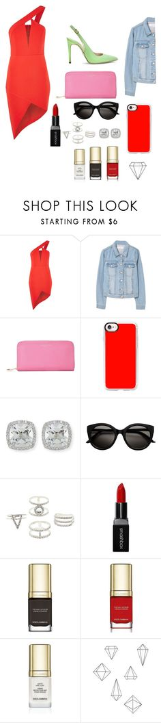 """""""Untitled #73"""" by raghad2007 ❤ liked on Polyvore featuring Rare London, MANGO, Aspinal of London, Casetify, Frederic Sage, Charlotte Russe, Smashbox, Dolce&Gabbana and Umbra"""
