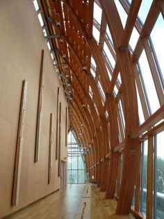 Art Gallery of Ontario | Ripple Effects curving wood structure