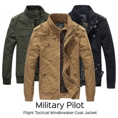 Military Bomber Jacket, Cotton Jacket, Stylish Men, Pilot, Shop Now, Windbreaker, Coat, Jackets, Stuff To Buy