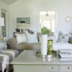 Welcome to Ideas of Cottage Living Room Curtain Ideas article. In this post, you'll enjoy a picture of Cottage Living Room Curtain Ideas de. Cottage Style Living Room, My Living Room, Home And Living, Living Spaces, Beige Couch, Beige Living Rooms, Transitional Living Rooms, Fashion Room, Decoration