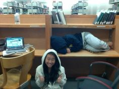 Asians Sleeping In The Library Dead Week At Uc Berkeley
