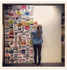 wall art. Runners wall. To display race numbers. Athletic design.