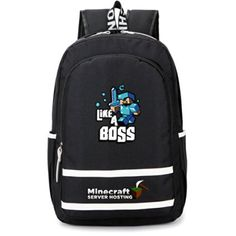 Minecraft Backpack Schoolbag Sportsbag Children Present (boss) 98180248189d4