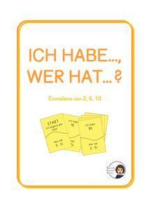 Ich habe..., wer hat...? - Einmaleins: 2, 5, 10 – Unterrichtsmaterial im Fach Mathematik Signs, Philosophy, Agriculture Farming, School Social Work, Home Economics, Multiplication Tables, Physical Science, Computer Science, Biology