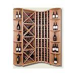 Beautiful custom #wine storage rack with display shelves and diamond bins. #winestorage