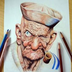 'Marvelous Colored Pencils Drawings Works by American Artist Memo Espino' Cartoon Drawings, Pencil Drawings, Art Drawings, Figure Painting, Painting & Drawing, Color Pencil Art, Portrait Art, Colored Pencils, Comic Art