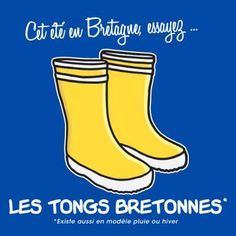 """this summer, in Brittany, try the breton flips-flops"" :-)"
