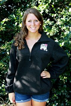 Future First Lady  - GOP Embroidered Quarter Zip Fleece, $39.99 (http://www.futurefirstlady.net/gop-embroidered-quarter-zip-fleece/)