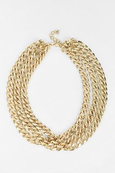 nOir Jewelry Layered Chain Necklace #urbanoutfitters