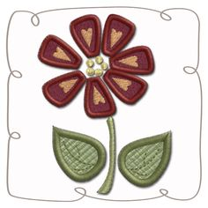 Flower Applique Machine Embroidery Design Pattern-INSTANT DOWNLOAD