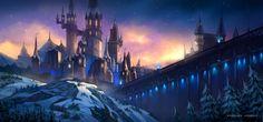 Magic castle by angelina andreas Magic castle Fantasy castle Castle art