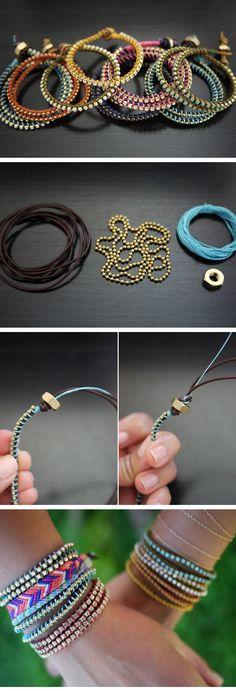 DIY Wrap Bracelet | Click Pic for 24 DIY Christmas Gifts for Teen Girls | Handmade Gift Ideas for Teen Girls