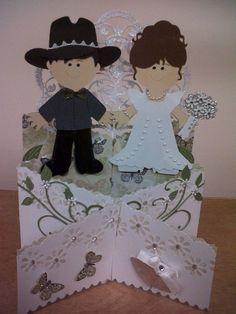 Card: Cascading Wedding Card