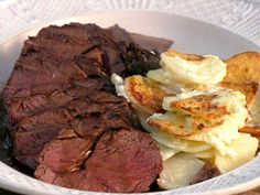 Pan-Roasted Venison with Creamy Baked Potato and Celeriac Recipe    time to cook my dad's haul...