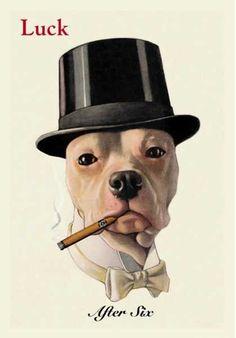 Ralph Lauren Bar Cart -- Buyenlarge Dog in Top Hat Smoking a Cigar Canvas 96a60d649a71