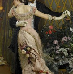 The end of the ball by Rogelio de Egusquiza (detail)