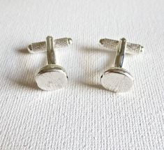 Great wedding gift idea for groom groomsmen. Silver Nugget Cufflinks